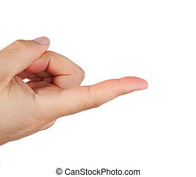 Hand with index finger