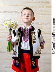 Adorable boy wearing traditional costume
