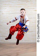Talented child performing a traditional dance - Talented...