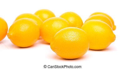 lemons - full ripe lemons on a white background