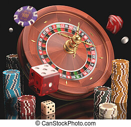 Gambling - Concept of casino and gambling.