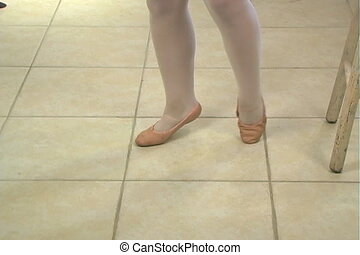 Young Female Ballet Feet (4) - Close-up of the feet of a...