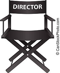 producer chair - Producer chair on a white background Vector...