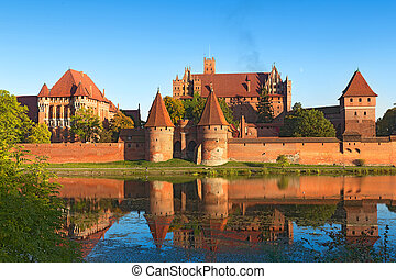 Malbork castle, Teutonic Knights fortress also known as...