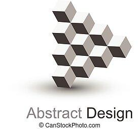 Logo 3D cubes, vector.