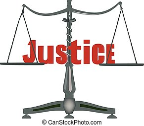 Symbol of justice on a scale at th