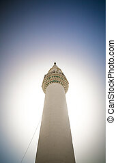 Minaret against the sky
