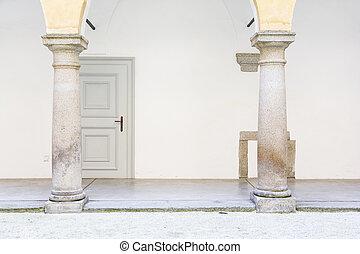 Hartheim, castelo, em, Áustria,