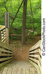 Trail Through Nature Preservea - Trail marker to a more...