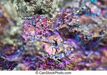 chalcopyrite, él, químico,  fórmula, tiene,  (cufes2)