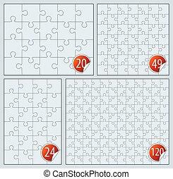 Puzzle set 20, 24, 49 120 pieces