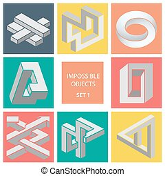 Impossible objects. Set 1. - Impossible objects Set 1....