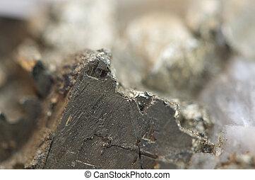 hierro, pirita, es, un, hierro, sulfide, con, el, químico,...
