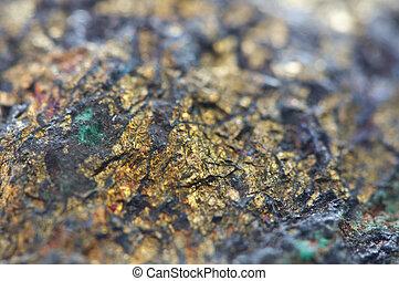 Chalcocite, copper(I), sulfide, (Cu2S), es, un, importante,...