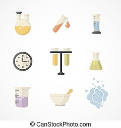Science and research icons.Part I