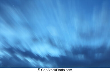 Only sky at night - long exposure