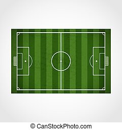 Football field - Vector green soccer, football field...