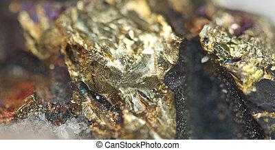 cobre,  mineral,  macro,  sulfide, hierro,  chalcopyrite