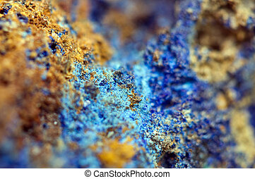 Azurite is a soft, deep blue copper mineral produced by...