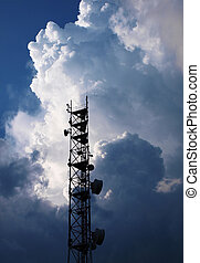 Antenna and thunderclouds - antenna cellular operator with...