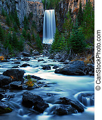 Tumalo Falls Twighlight - Tumalo Falls in Bend Oregon