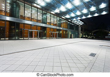 modern office building entrance exterior - building entrance...