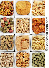 Party Snack Food - Savoury snack party food selection in...