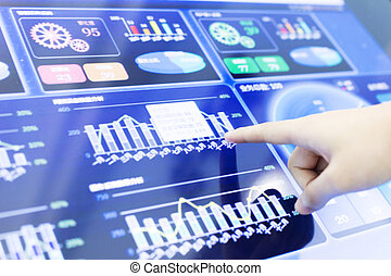 clicking and analysis business financial report