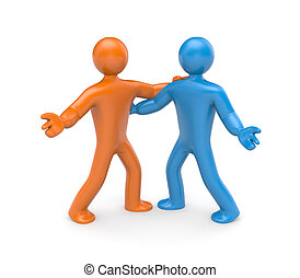 Partnership concept. Isolated on white