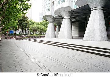 modern building facade in urban city