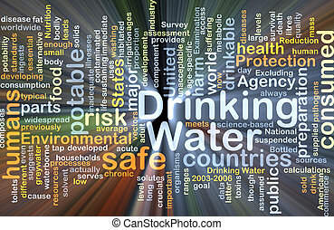 Drinking water background concept glowing - Background...