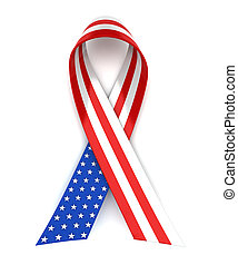 Red, white, and blue ribbon for 4th of July or Memorial Day