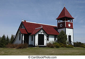 ANGLICAN CHURCH IN THE DUTCH STYLE, PINE LAKE ALBERTA...