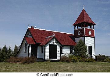 ANGLICAN CHURCH IN THE DUTCH STYLE, PINE LAKE ALBERTA...