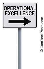 Operational Excellence - Modified one way sign indicating...