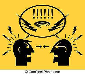 People quarreling - Deconstructive Communication, Two angry...