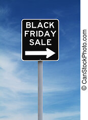 Black Friday Sale This Way - Modified one way sign...