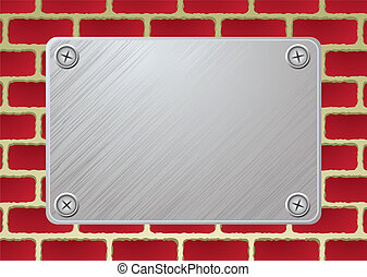 brickwall metal plate
