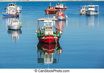 Greece boat - Fishing boats in Greece bay