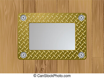 gold metal plaque