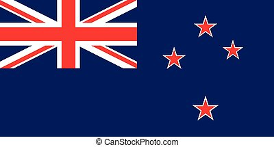 The official flag of the New Zealand in both color and...