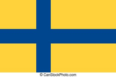 The official flag of Sweden - An illustration of the...