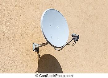 壁, 家, 人工衛星, 増した, 皿