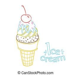 Line ice cream
