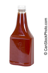 Tomato Ketchup - Tomato ketchup in bottle; isolated clipping...