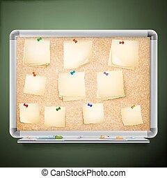 Cork message board. EPS 10
