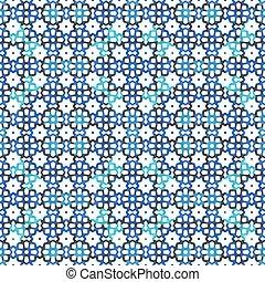 Blue mosaic soft pattern