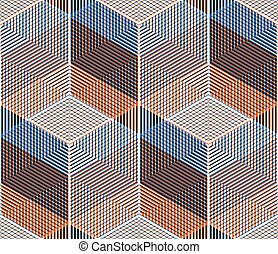 Bright symmetric seamless pattern with interweave figures....