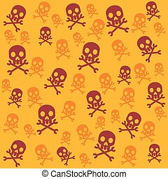 Vector skull background