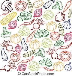 Vector vegetables background